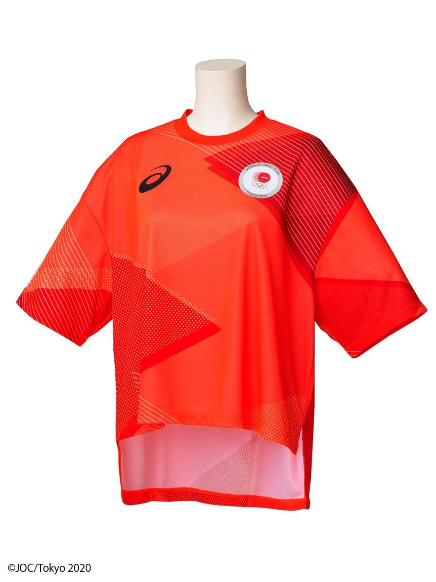 東京2020オリンピック日本代表選手団公式応援グッズ・TEAM RED COLLECTION Tシャツ MA(JOCエンブレム)(RED-F)
