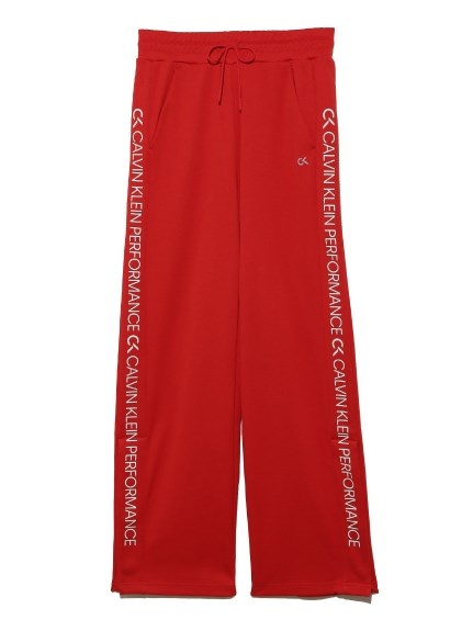 【Calvin Klein】Side Panel Knit Pants(RED-S)