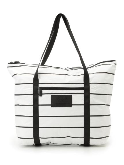 【ALOHA COLLECTION】ALOHA Zipper Tote(WHTxBLK-F)