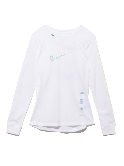 【NIKE】AS W NSW TEE LS WORLDWIDE(WHT-S)