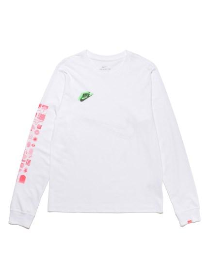 【NIKE】ナイキ HBR ワールドワイド L/S Tシャツ(WHT-S)