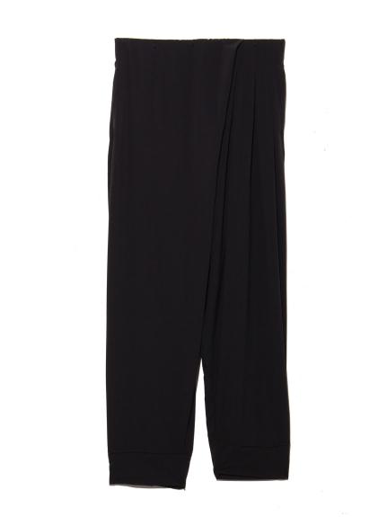 【DANSKIN】YOGI CLOTH TUCKED PANTS(BLK-M)