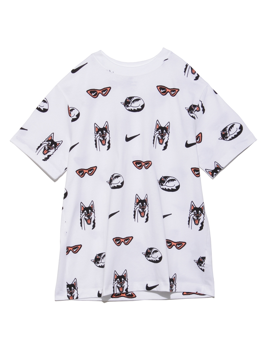 【NIKE】BF DOG S/S Tシャツ AOP(WHT-S)
