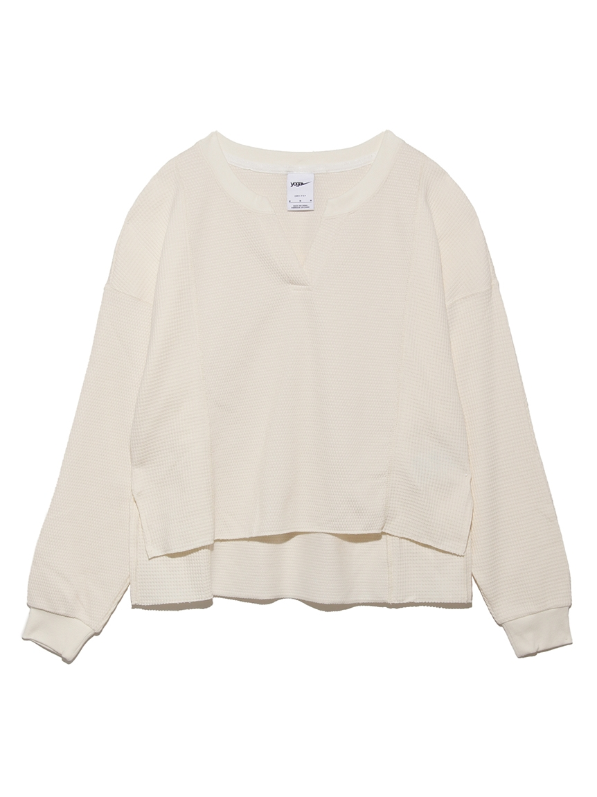 【NIKE】LUXEワッフルMIXCV L/Sトップ(WHT-S)
