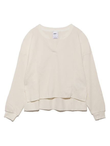 【NIKE】LUXEワッフルMIXCV L/Sトップ(WHT--)