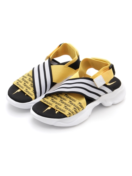 【adidas Originals】MAGMUR SANDAL W(BLKxYEL-22.5)