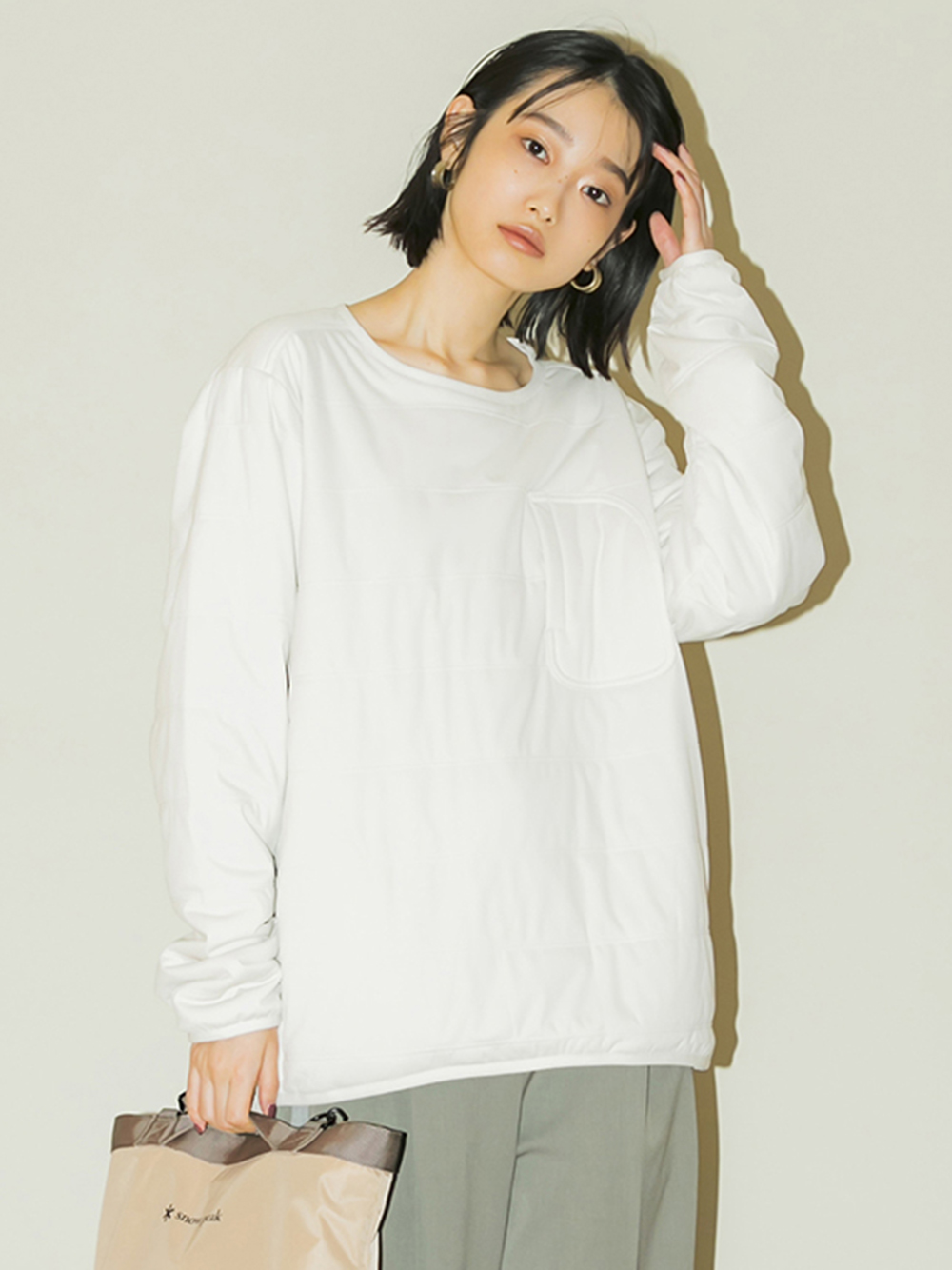 【emmi×Snow Peak】Flexible Insulated Pullover(LGRY-F)