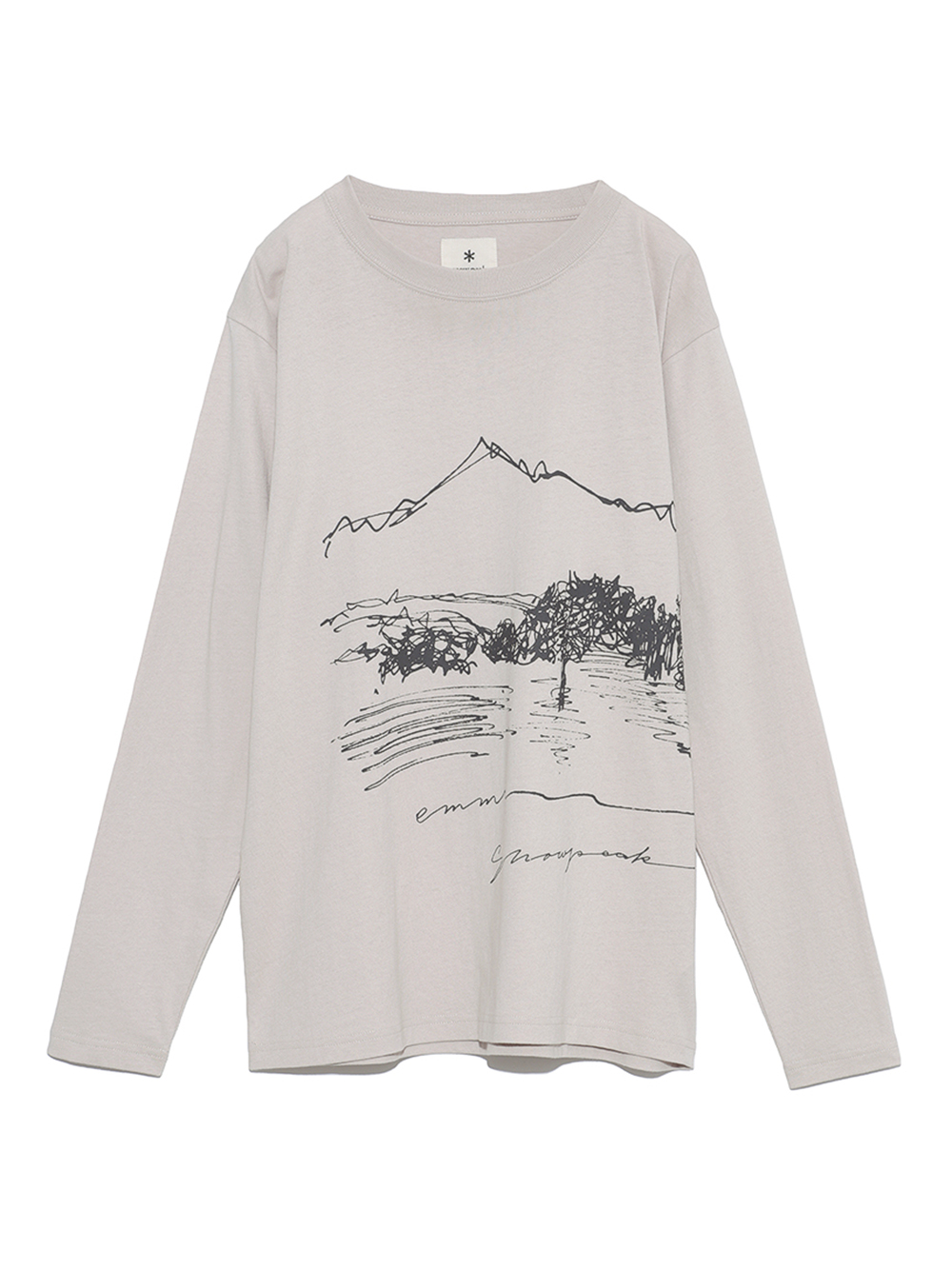 【emmi×Snow Peak】CF Graphic Longsleeve TEE