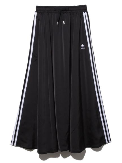 【adidas Originals】LONG SATIN SKIRT(BLK-S)