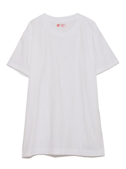 【Hanes】2P JAPAN FIT クルーネックTシャツ(WHT-XS)