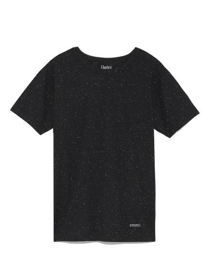 【Hanes×emmi】COLORS crew neck T-shirts / emmi(BLK-S)