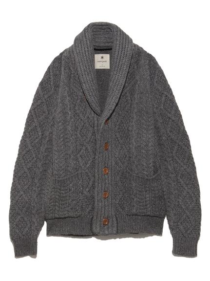 【SnowPeak】Alpaca Knit Cardigan(GRY--)