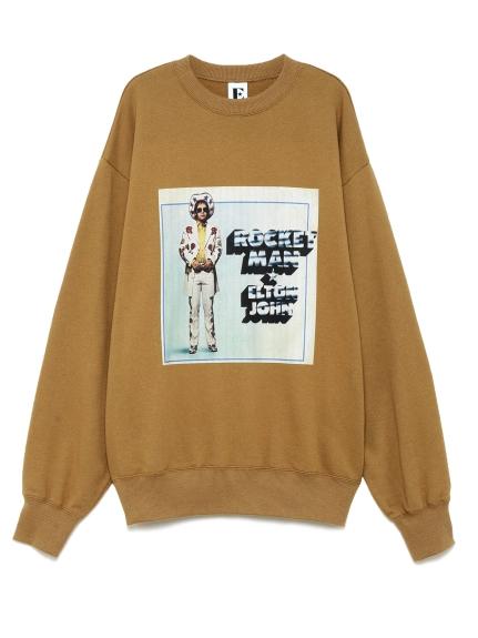 ビンテージ風ロングTシャツ(BEG-F)