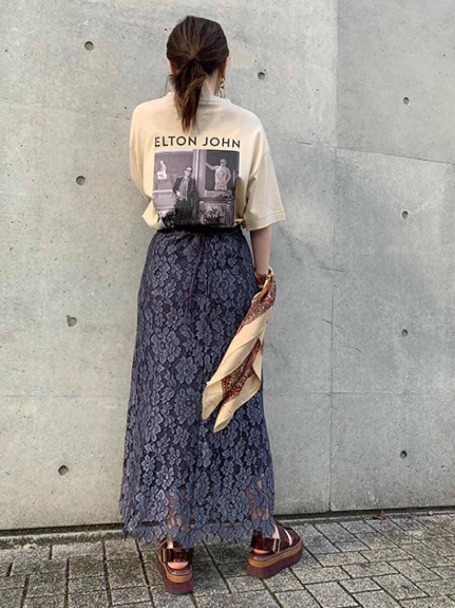 バックプリントTシャツ(BEG-F)