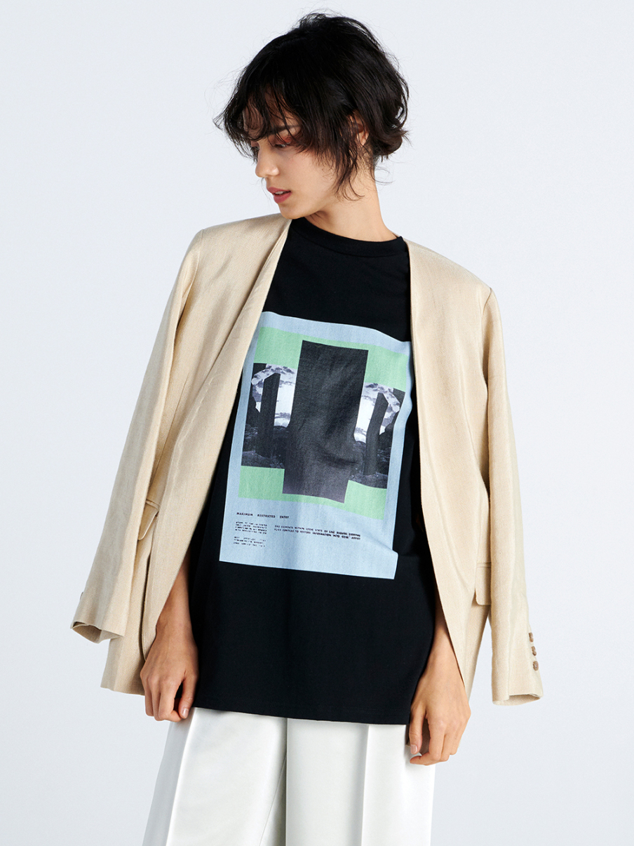 モノリスTシャツ(BLK-F)