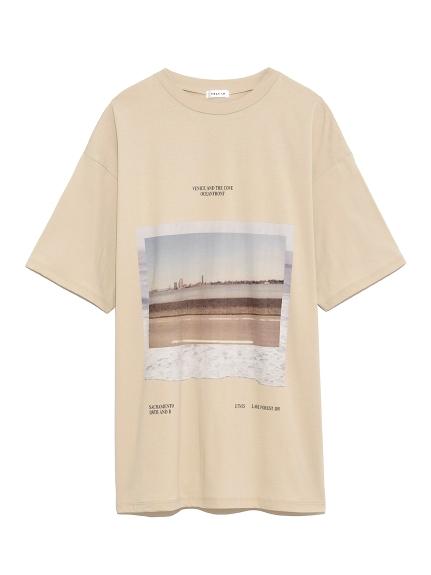 フロントフォトTシャツ(BEG-F)