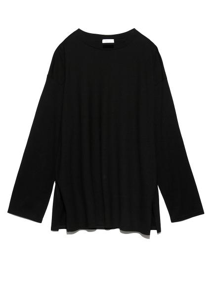 シンプルロングTシャツ(BLK-F)