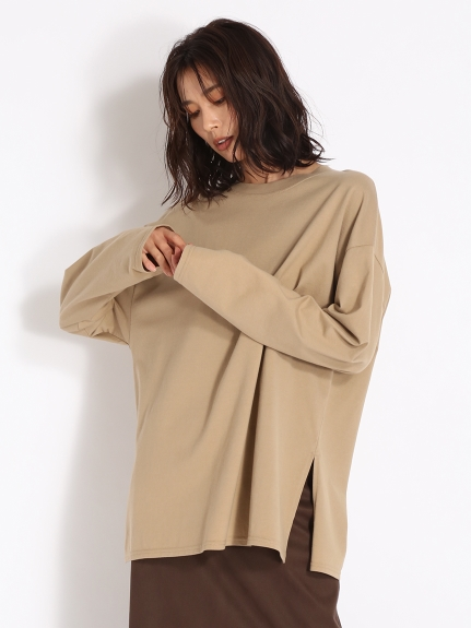 シンプルロングTシャツ(BEG-F)