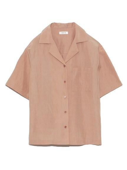 リネンシルク開襟シャツ