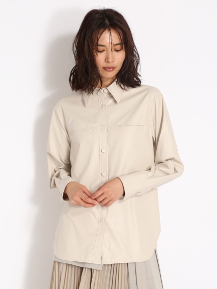 レザーオーバーシャツ(WHT-0)