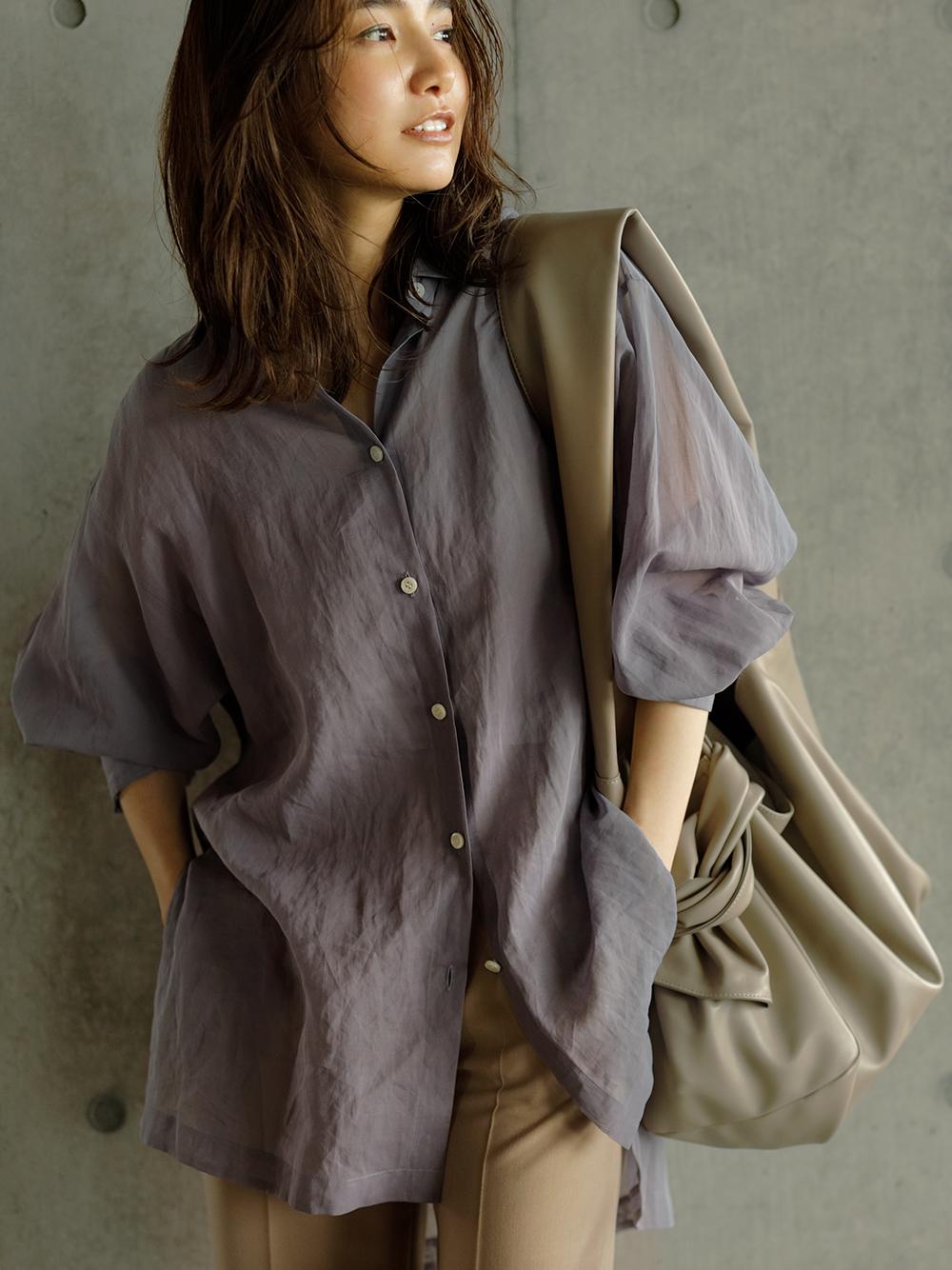 カメリアシアーシャツ(BLU-F)