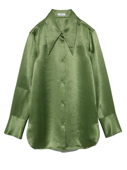 ビッグカラーサテンシャツ(GRN-0)