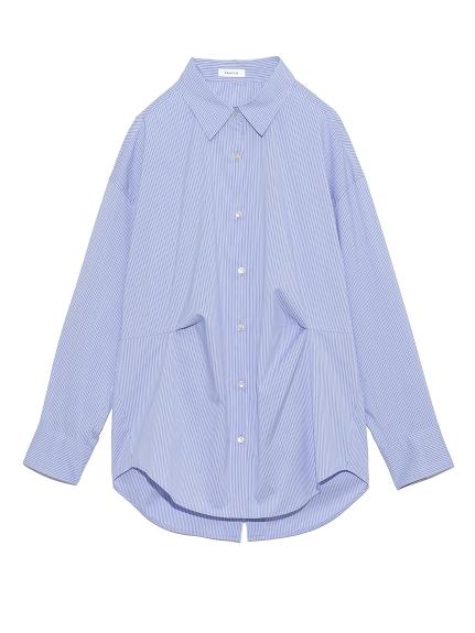 タックデザインカメリアシャツ(STRIPE-F)