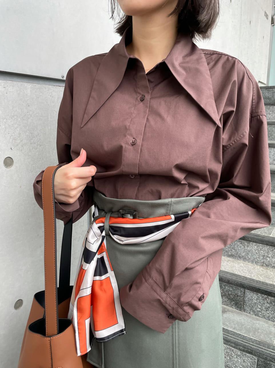 ロングポイントカラーシャツ(BRW-0)