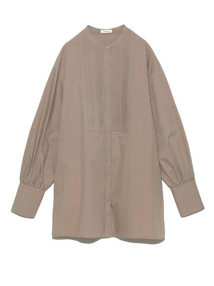 バンドカラーランダムピンタックシャツ(MOC-F)