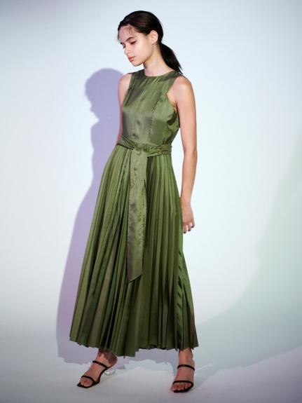 グロッシープリーツドレス
