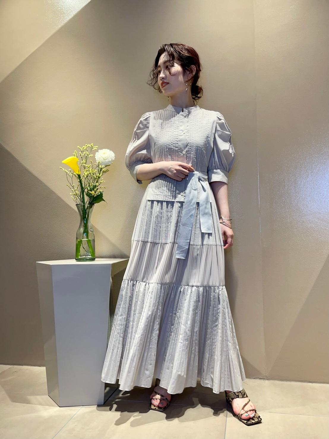 ピンタックティアードドレス(BEG-0)