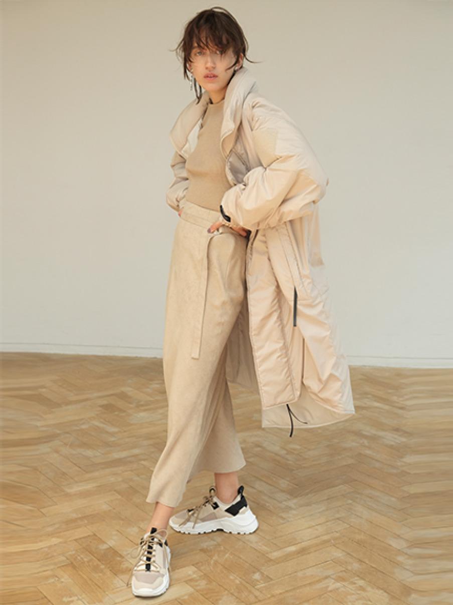 スエードナロースカート(BEG-0)