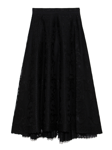 パネルジャガードスカート(BLK-0)