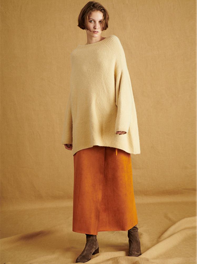 スェードボンディングラインスカート