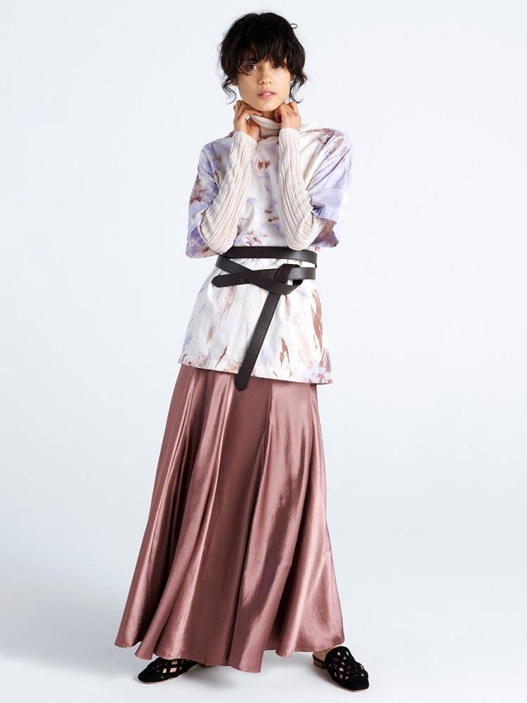 ボリュームフレアマキシスカート
