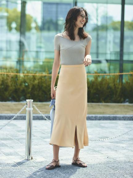 キュプラサテンナロースカート