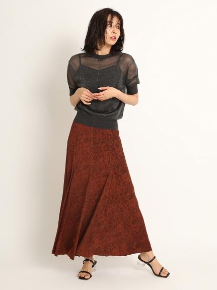 クルミ釦マチ入りロングスカート