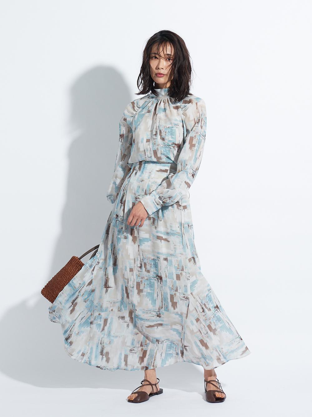 ハイウエストナロースカート