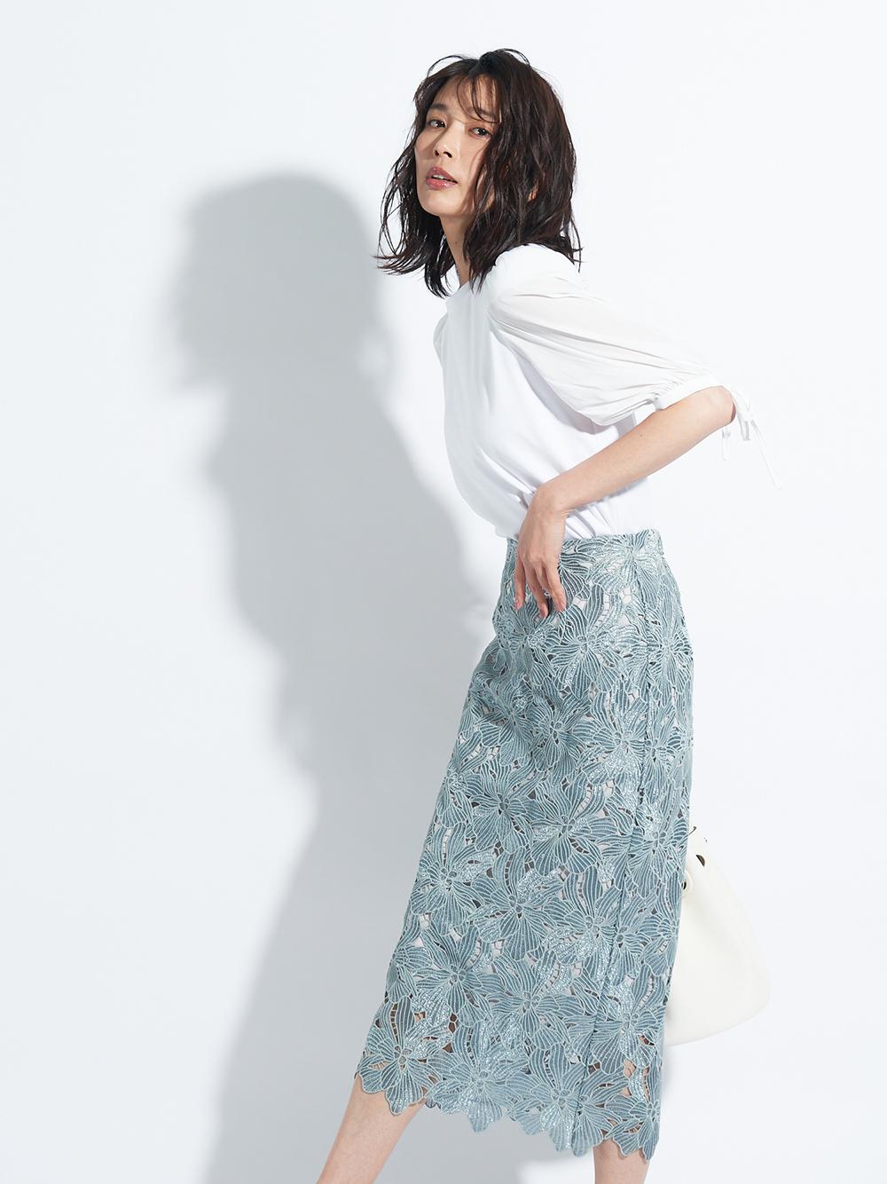 ラメレーススカート(MNT-0)