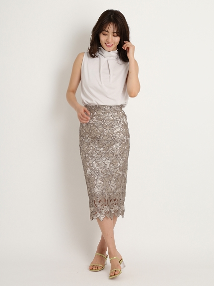 ラメレーススカート