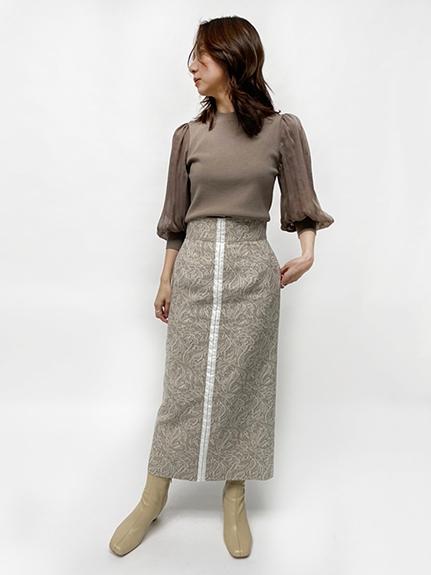 タイトジャガードスカート
