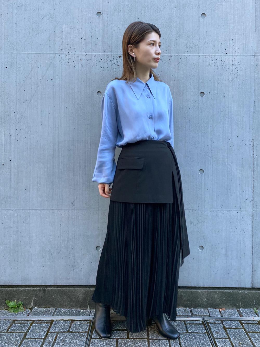 ラッププリーツスカート(BLK-0)