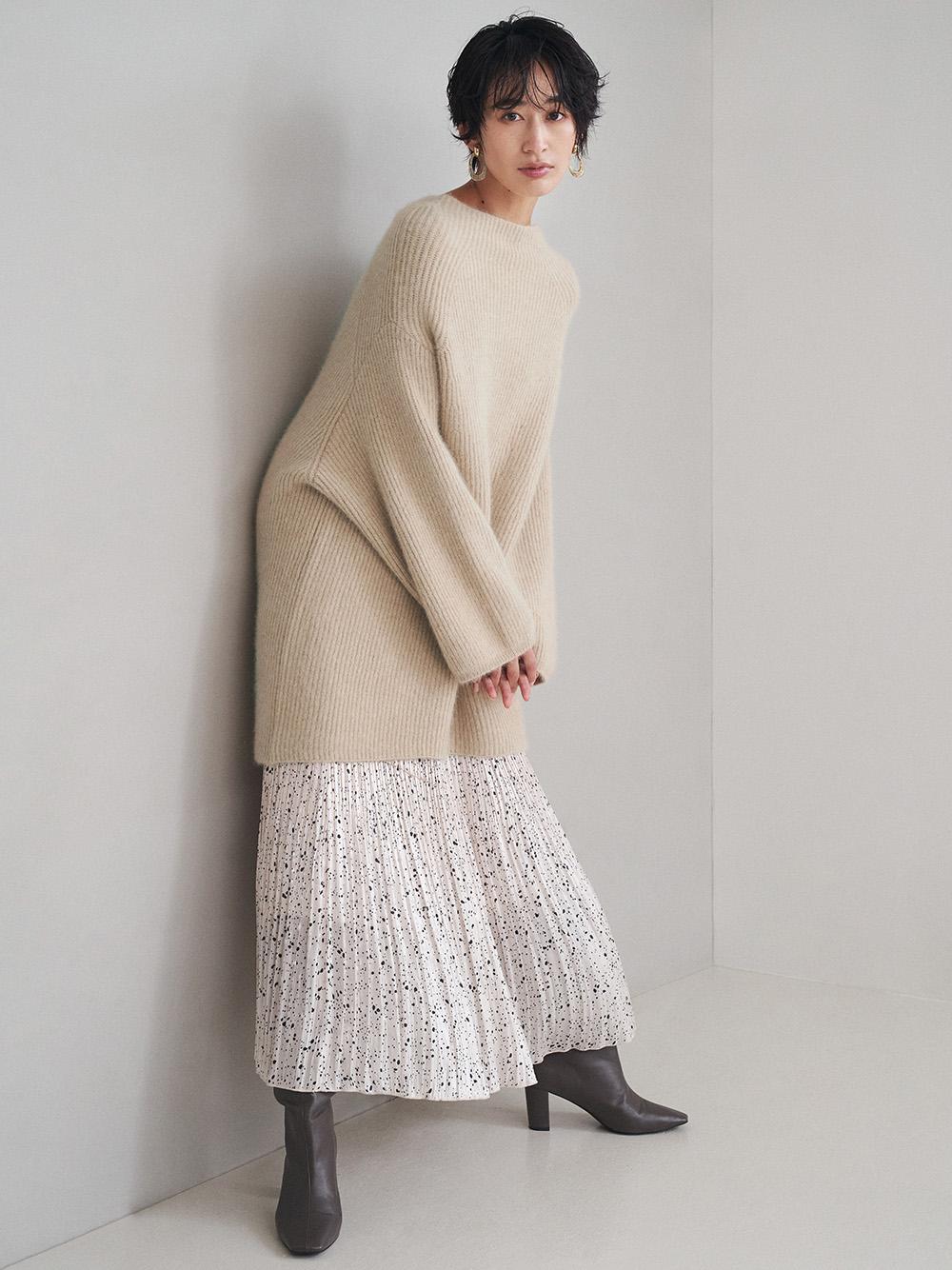グロッシープリーツプリントスカート