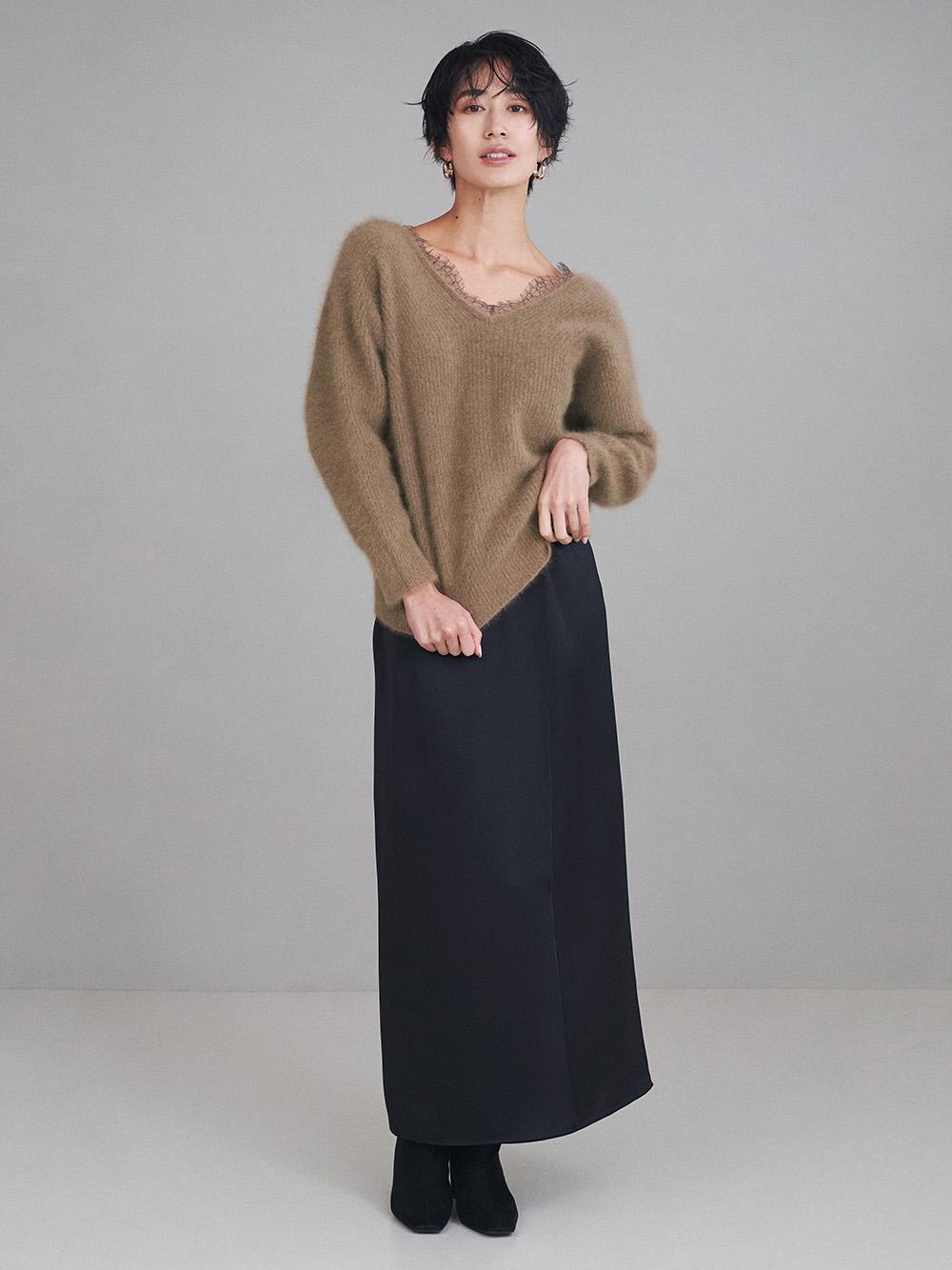 ストレートサテンスカート