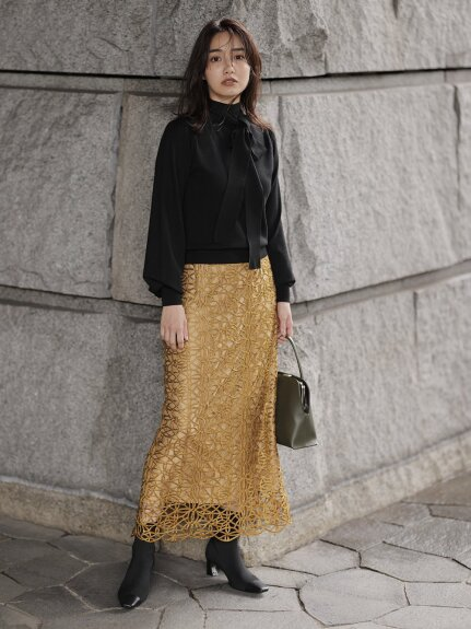 チンツレースタイトスカート