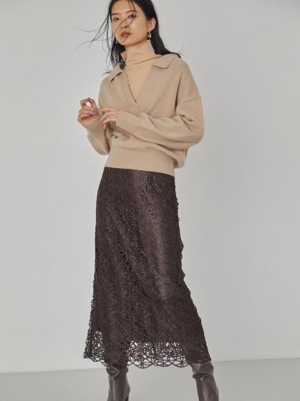 チンツレースタイトスカート(BRW-0)
