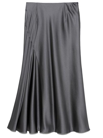 エンボスサテンナロースカート