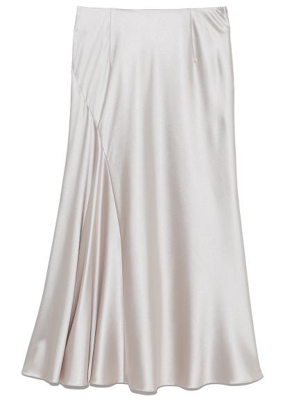 エンボスサテンナロースカート(BEG-0)