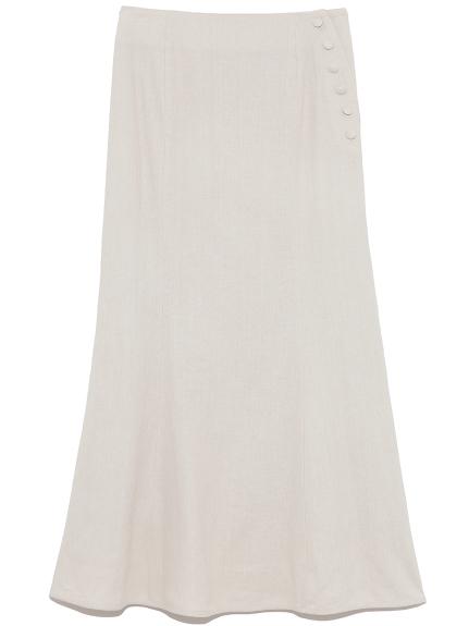 レーヨンリネンナロースカート(BEG-0)