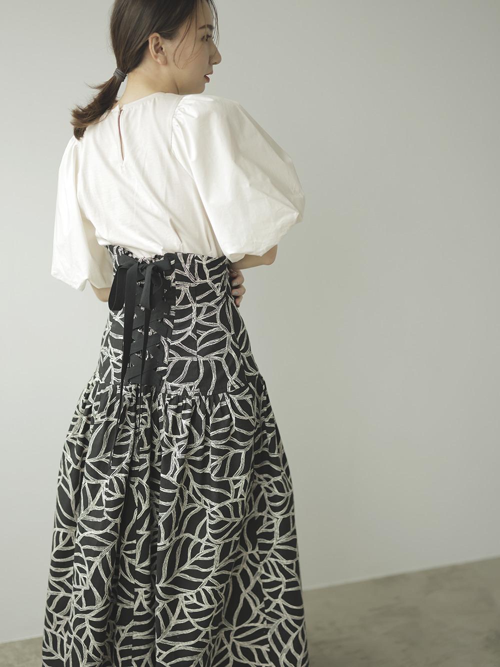 コルセットロングスカート